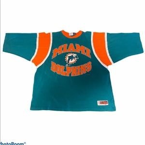 Vintage Miami Dolphins 3/4 Sleeve Raglan 90s